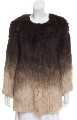 Max & Moi Knitted Fur Jacket