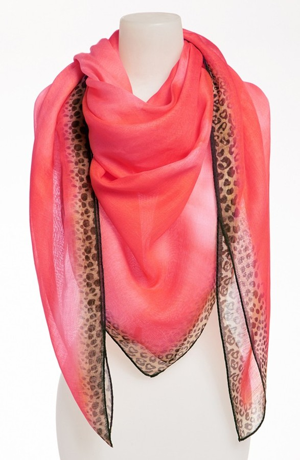 Nordstrom 'Animal Tie Dye' Linen & Silk Blend Scarf