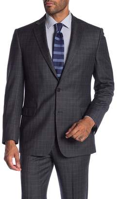 Brooks Brothers Grey Plaid Two Button Notch Lapel Classic Fit Suit Separates Jacket