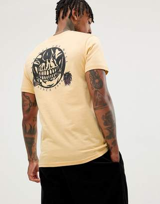 Vans t-shirt with back print in yellow VN0A3HR6M8Q1