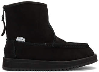 Suicoke Black Suede RUSS-Mwpab Boots
