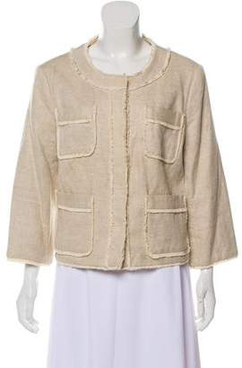 MICHAEL Michael Kors Frayed-Trimmed Jacket