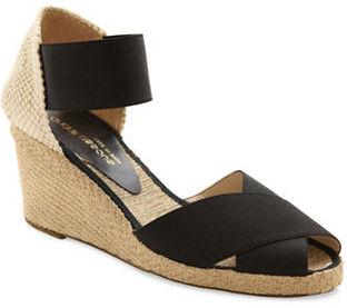 Andre Assous Erika Espadrille Wedge Sandals $175 thestylecure.com