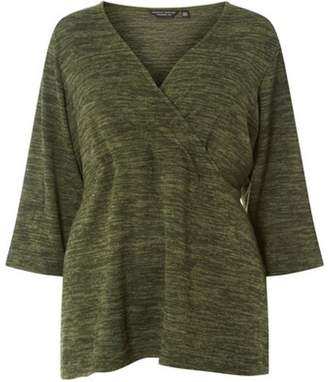 Dorothy Perkins Womens **DP Curve Kahki Brushed Wrap To