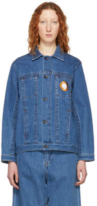 Craig Green Blue Bleached Denim Jacket