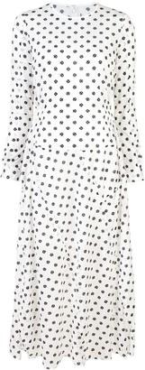 Julien David longsleeved spot print dress