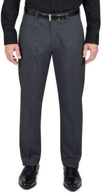 Haggar Straight Fit Mini Check Dress Pants