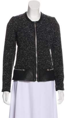 IRO Leather Trim Wool Jacket
