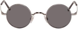 Dolce & Gabbana Gunmetal Round Sunglasses $270 thestylecure.com