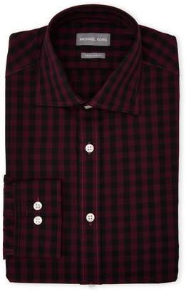 Michael Kors Purple Gingham Regular Fit Dress Shirt