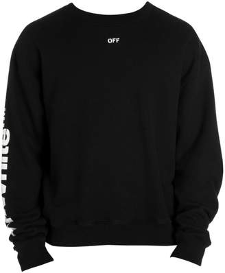 Off-White Off White Diagonal Skulls Cotton Sweatshirt