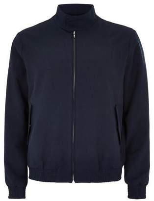 Topman Mens Navy Smart Harrington Jacket