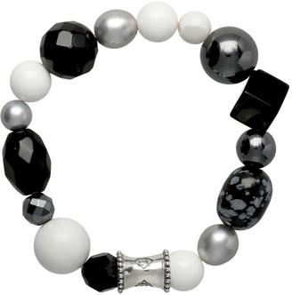 """Elyse Ryan Sterling Black Gemstone """"Wrist Rocks"""" Bracelet"""