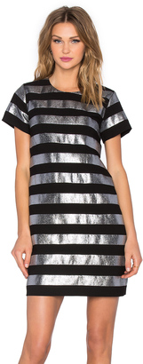Marc by Marc Jacobs Lame Shift Dress $498 thestylecure.com