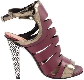 Roland Mouret Purple Leather Sandals