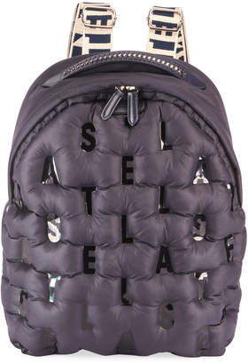 Stella McCartney Falabella Puff Nylon Logo Backpack Bag