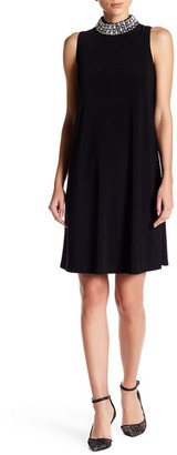 Marina Jewel Neck A Line Dress $129 thestylecure.com