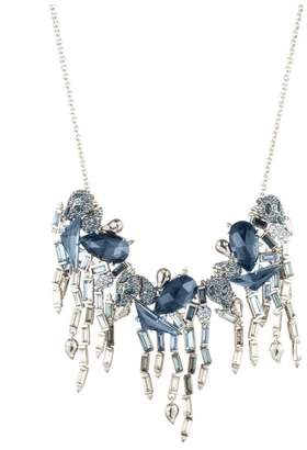 Alexis Bittar Fancy Stone Cluster Bib Necklace With Ombre Crystal Baguette Fringe