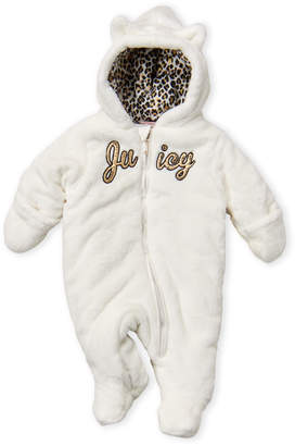 Juicy Couture Newborn Girls) Faux Fur Cat Ear Pram Suit