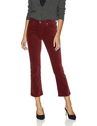 AG Adriano Goldschmied Women's Velvet Jodi HIGH-Rise Crop Flare
