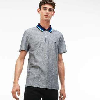 Lacoste Men's Regular Fit Piped Cotton Pique Polo