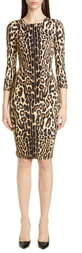 Burberry Leopard Print Body-Con Dress