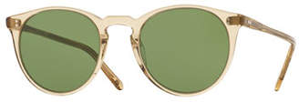 Oliver Peoples The Row O'Malley NYC Peaked Round Sunglasses, Yellow