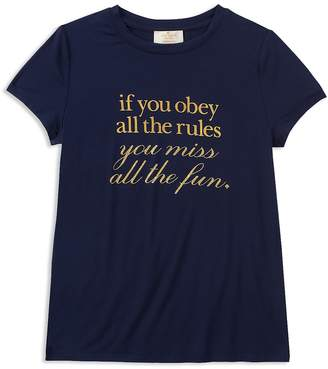 Kate Spade Girls' Break the Rules Tee
