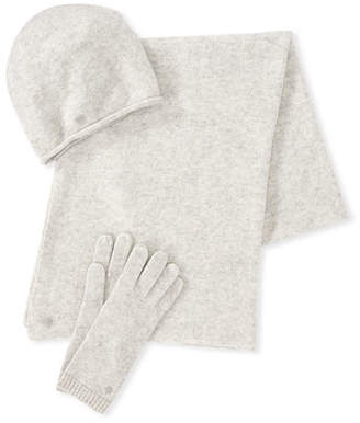 UGG Luxe Wool-Blend Smart Gloves, Beanie & Scarf Set