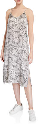 ATM Anthony Thomas Melillo Silk Snake-Print Slip Dress