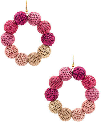MISA Los Angeles Crochet Dots Earrings