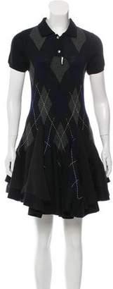 Sacai Wool Patterned Dress