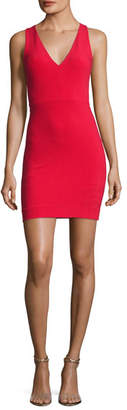 Elizabeth and James Alivia V-Neck Sleeveless Fitted Midi Dress