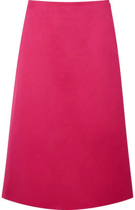 Marni Cotton-sateen Midi Skirt - Pink