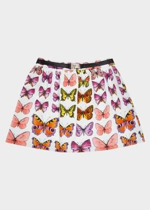 Versace Butterfly Print Skirt