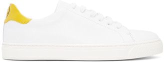 Anya Hindmarch White Wink Tennis Sneakers $395 thestylecure.com