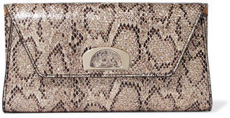 Christian Louboutin Vero Dodat Metallic Snake-effect Leather Clutch - Snake print