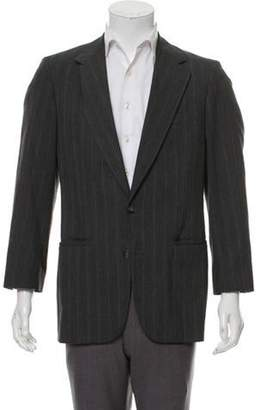 Hardy Amies Pinstripe Notched-Lapel Blazer grey Pinstripe Notched-Lapel Blazer