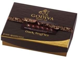 Godiva 12 Piece Dark Truffle Gift Box
