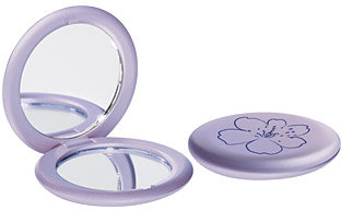 Lilac Floral Compact Mirror