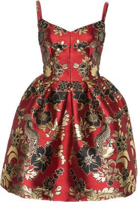 Dolce & Gabbana Floral And Leopard Jacquard Mini Dress