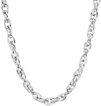 Factory The Bling 3.5mm Durable Solid Stainless Steel Double Rope Cable Link Necklace, 22 inches + Jewelry Polishing Cloth