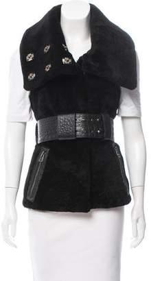 Thomas Wylde Shearling Belted Vest