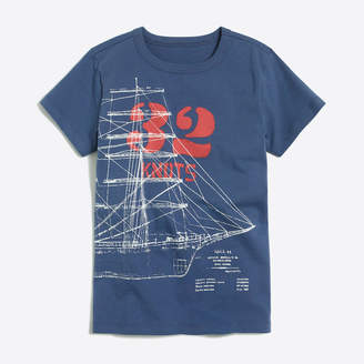 J.Crew Factory Boys' short-sleeve glow-in-the-dark blueprint graphic T-shirt