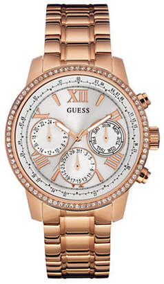 GUESS Multi-Function Rose-Goldtone Stainless Steel Bracelet Watch