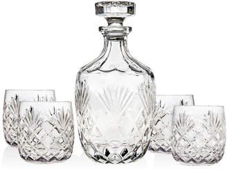 Godinger Berkshire 5-Piece Whiskey Decanter Set