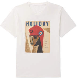 Off-White Holiday Boileau - Printed Cotton-jersey T-shirt