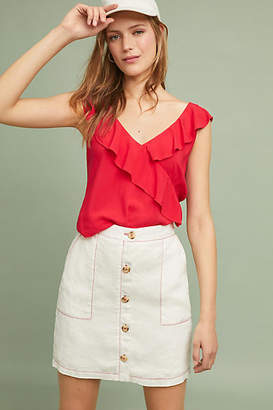 Amadi Buttoned Linen Mini Skirt