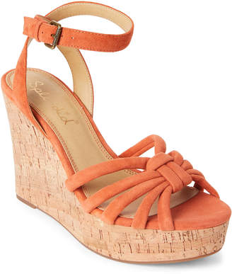Splendid Coral Fallon Cork Wedge Sandals
