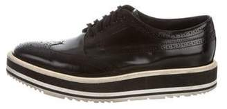 Prada Wingtip Leather Oxfords